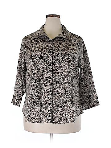 Talbots 3/4 Sleeve Button-Down Shirt Size 20 (Plus)