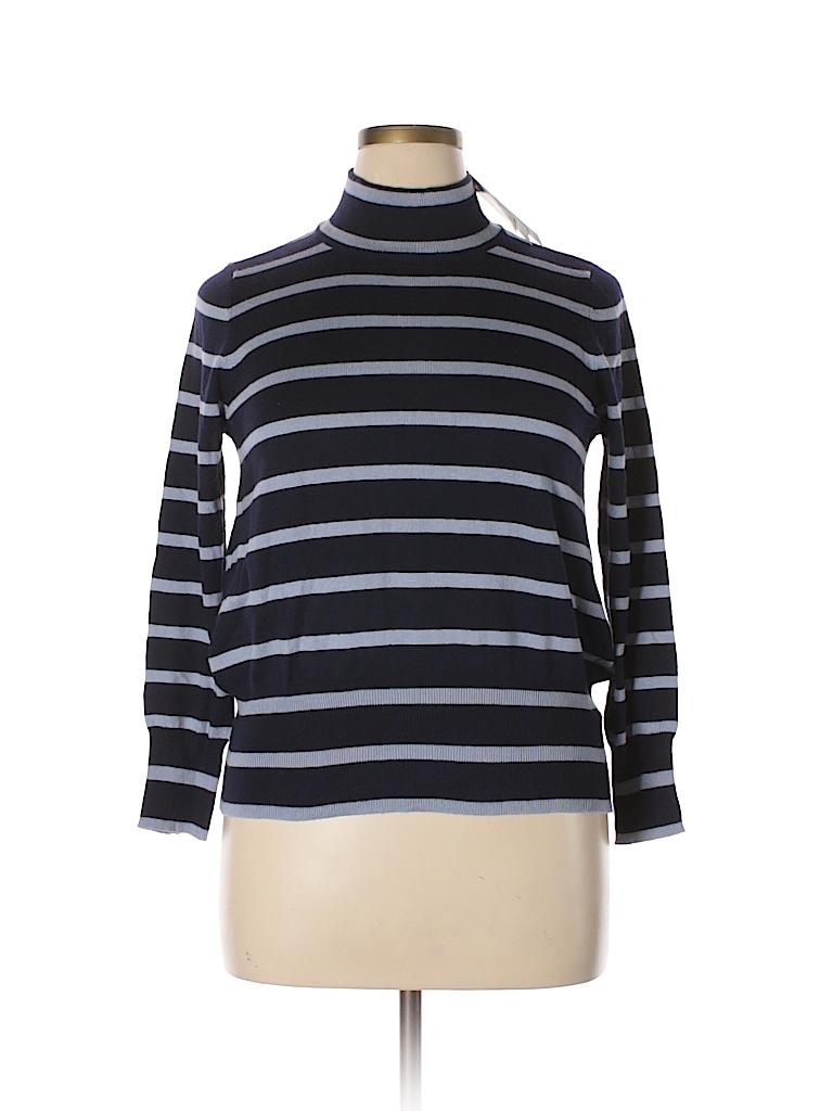 9b8a847165e Melissa McCarthy Seven7 Stripes Navy Blue Turtleneck Sweater Size 0X ...