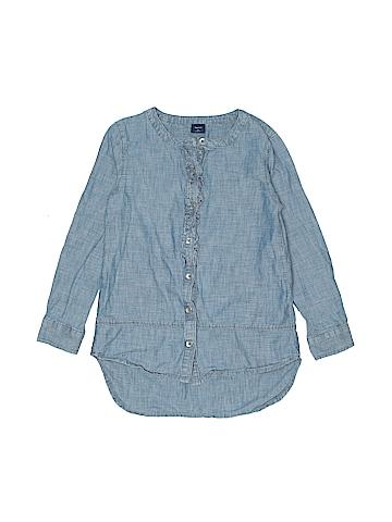 Gap Kids Long Sleeve Button-Down Shirt Size S (Youth)
