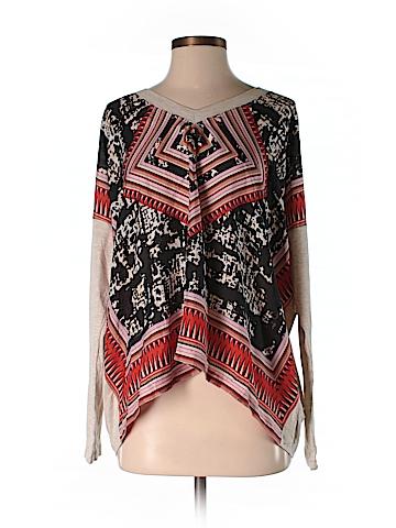 CAbi Long Sleeve Silk Top Size S