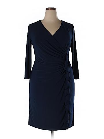Black Label by Evan Picone Casual Dress Size 26 (Plus)