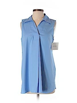 Ellen Tracy Sleeveless Button-Down Shirt Size S