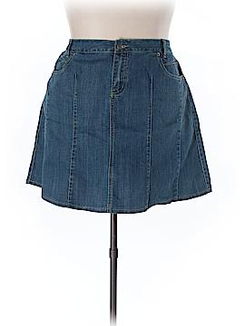 L.A. Blues Denim Skirt Size 22 (Plus)
