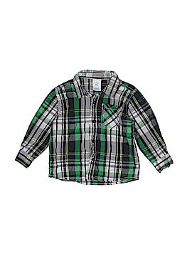 WonderKids Long Sleeve Button-Down Shirt Size 18 mo