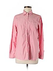 Lands' End Women Long Sleeve Button-Down Shirt Size 8