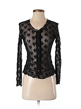 Papillon Blanc Long Sleeve Button-Down Shirt Size S