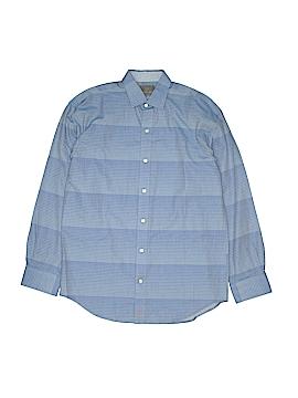 Thomas Dean Long Sleeve Button-Down Shirt Size 14