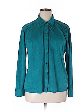 Caribbean Joe Long Sleeve Blouse Size XL