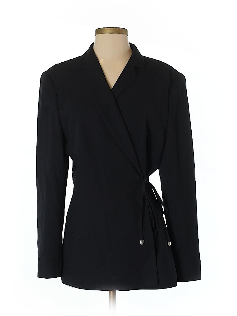 Escada by Margaretha Ley Women Wool Blazer Size 42 (IT)