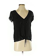 DKNY Women Short Sleeve Silk Top Size 4