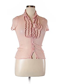 Sunny Leigh Short Sleeve Silk Top Size XL