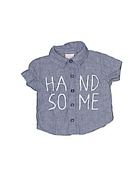 Cat & Jack Short Sleeve Button-Down Shirt Size 3-6 mo