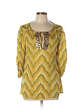 Beth Bowley 3/4 Sleeve Silk Top Size 10