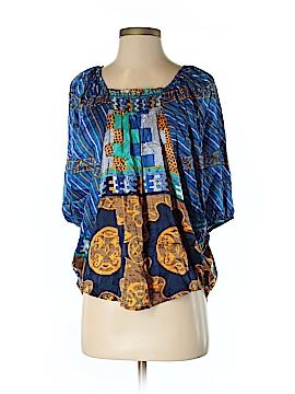VOOM by Joy Han Short Sleeve Silk Top Size S
