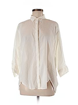 Ann Taylor LOFT Outlet 3/4 Sleeve Button-Down Shirt Size L