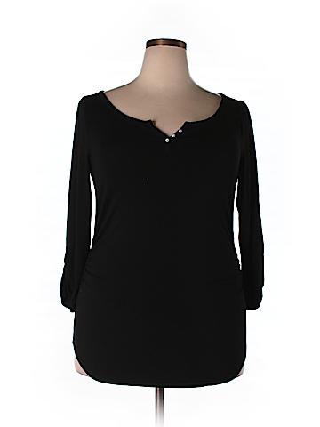 White House Black Market 3/4 Sleeve Henley Size XL