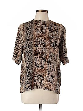 S.L.B. Short Sleeve Silk Top Size L
