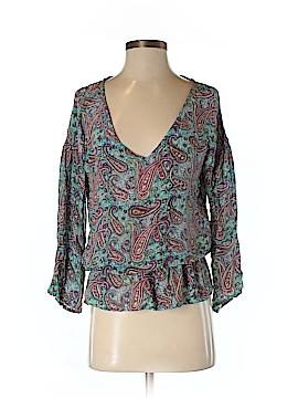 Tolani 3/4 Sleeve Silk Top Size M