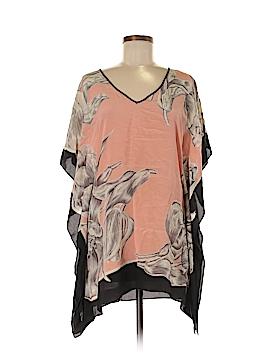 Lil Short Sleeve Silk Top Size XS