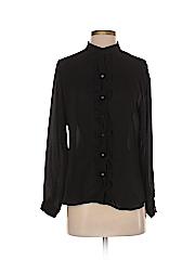Ann Taylor Women Long Sleeve Blouse Size M (Petite)