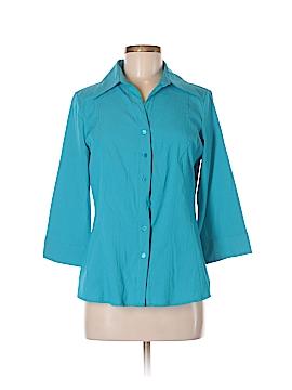 Como 3/4 Sleeve Button-Down Shirt Size M