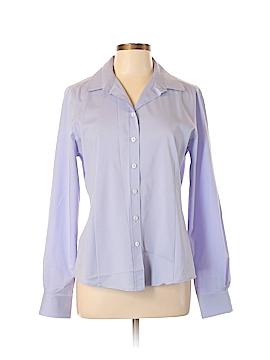Elie Tahari Long Sleeve Button-Down Shirt Size L