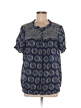 IZOD Short Sleeve Blouse Size M