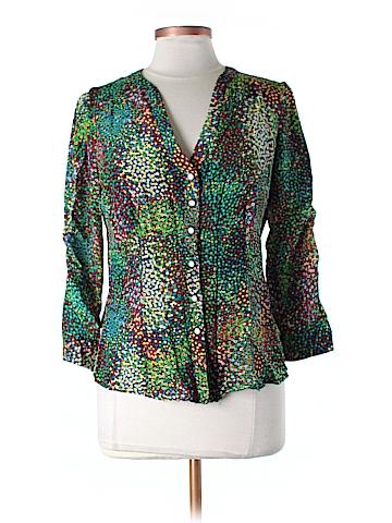 Nanette Lepore 3/4 Sleeve Silk Top Size 8
