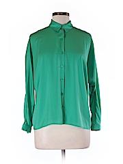 Ann Taylor LOFT Women Long Sleeve Blouse Size M (Petite)
