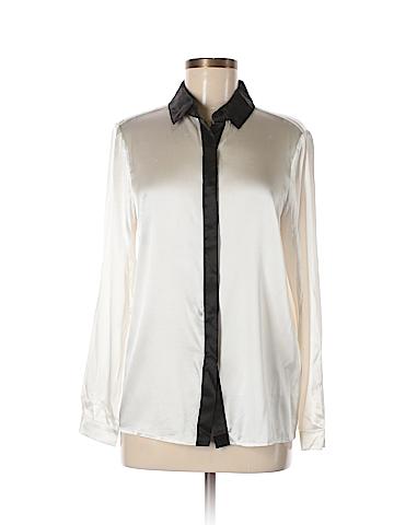 Alice + olivia Long Sleeve Silk Top Size L