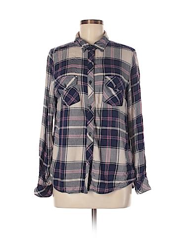 Derek Heart Long Sleeve Button-Down Shirt Size M