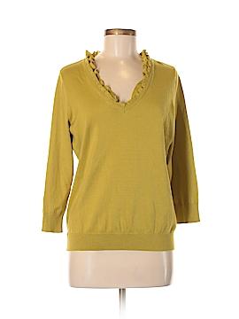 Amber Sun Silk Pullover Sweater Size M