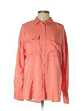 Tibi Long Sleeve Button-Down Shirt Size M