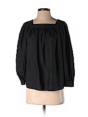 DKNY Women Long Sleeve Silk Top Size P
