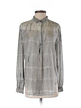 Raquel Allegra Long Sleeve Silk Top Size Sm (1)