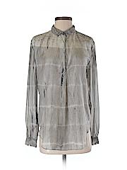 Raquel Allegra Women Long Sleeve Silk Top Size Sm (1)