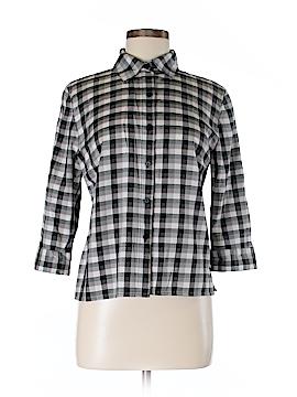Sag Harbor 3/4 Sleeve Button-Down Shirt Size 8 (Petite)
