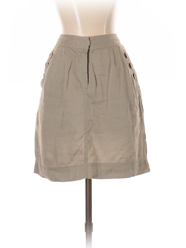 0e9bde99b7 Cynthia Rowley TJX 100% Linen Solid Tan Casual Skirt Size 4 - 91 ...