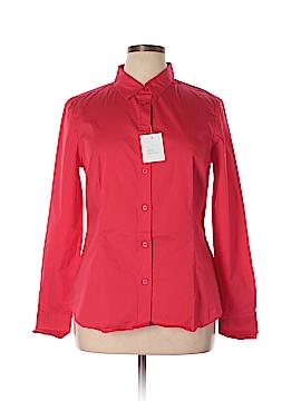 Moda International Short Sleeve Button-Down Shirt Size XL