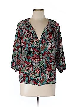 Tucker 3/4 Sleeve Silk Top Size L