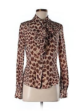 Newport News Long Sleeve Silk Top Size 4