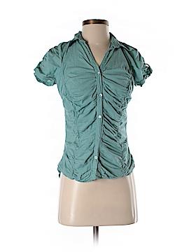 Max Studio Short Sleeve Button-Down Shirt Size M