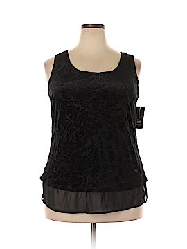 INC International Concepts Sleeveless Top Size 1X (Plus)