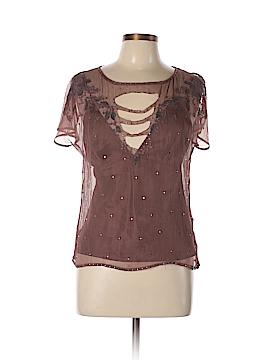 Catherine Malandrino Short Sleeve Silk Top Size L