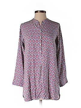 Rock Flower Paper 3/4 Sleeve Button-Down Shirt Size S
