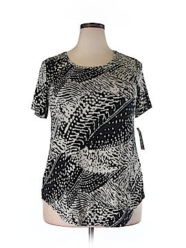 JM Collection Short Sleeve T-Shirt Size 0X (Plus)