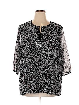 C.D. Daniels 3/4 Sleeve Blouse Size 1X (Plus)