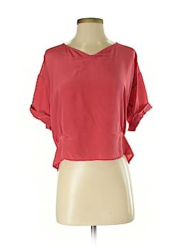 MYNE Short Sleeve Silk Top Size S