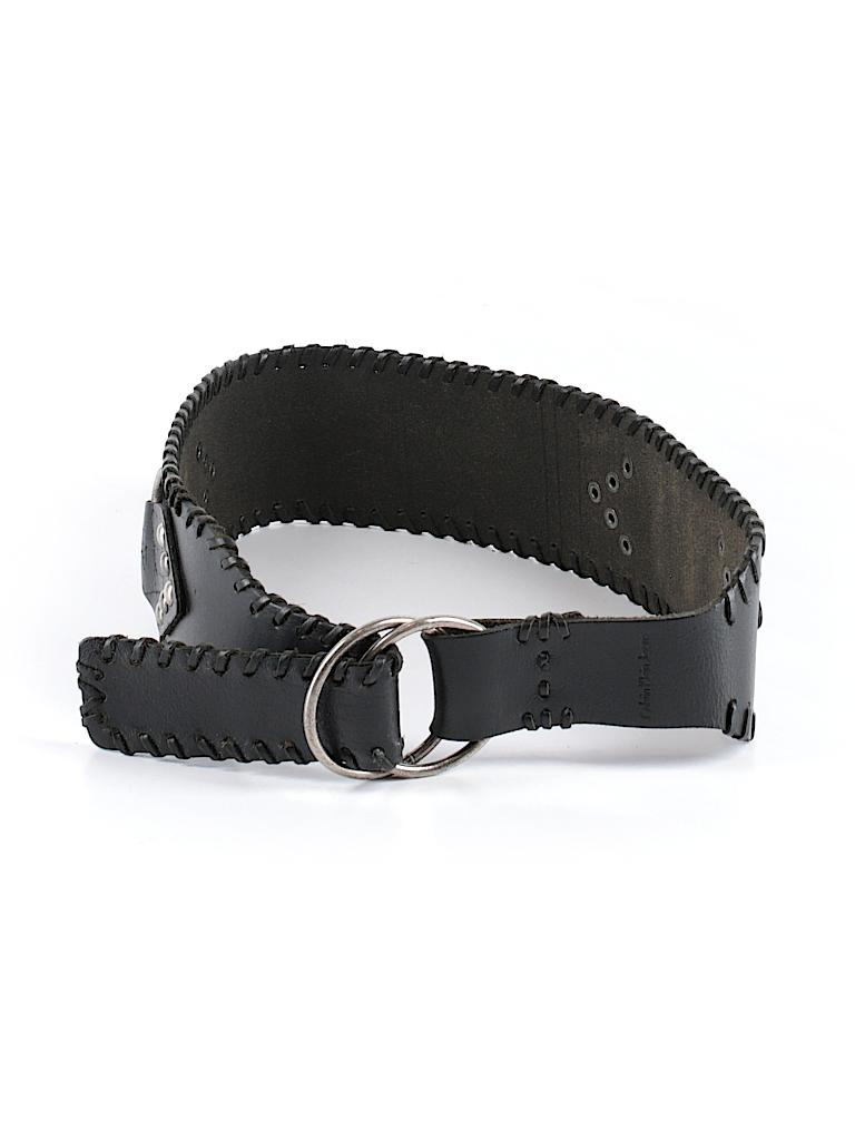 010d2f09c9e CALVIN KLEIN JEANS 100% Leather Solid Black Leather Belt Size S - 91 ...