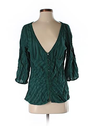 American Rag 3/4 Sleeve Button-Down Shirt Size M